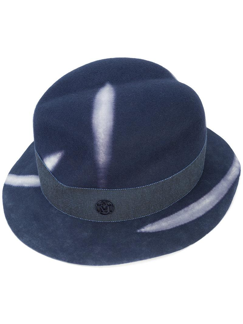 206c3a81081 Maison Michel Yoshika Hat in Blue for Men - Lyst