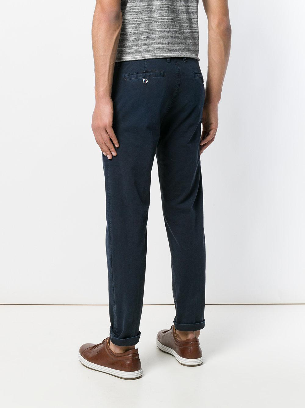 slim fit cropped trousers - Blue Re-hash EFFmAFm