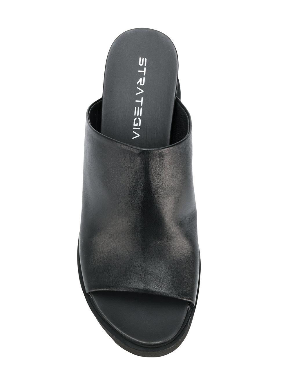 sling-back open-toe sandals - Black Strategia 62vi5