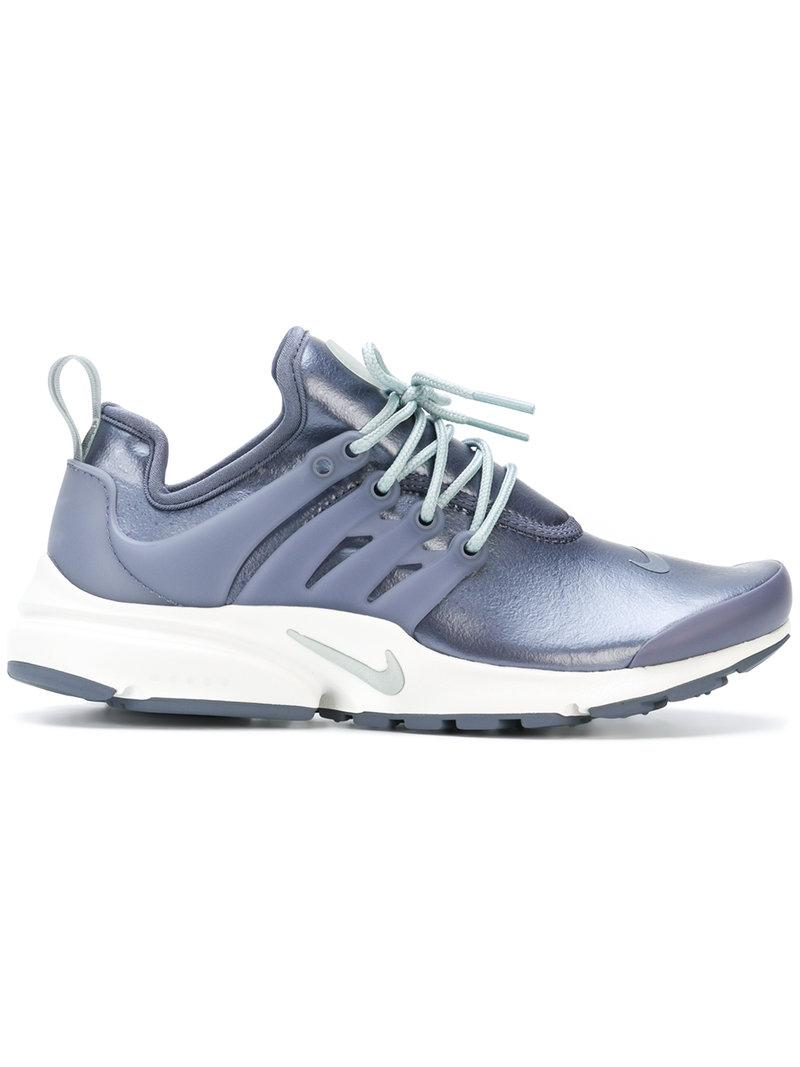 Nike. Women's Gray Metallic Air Presto Sneakers