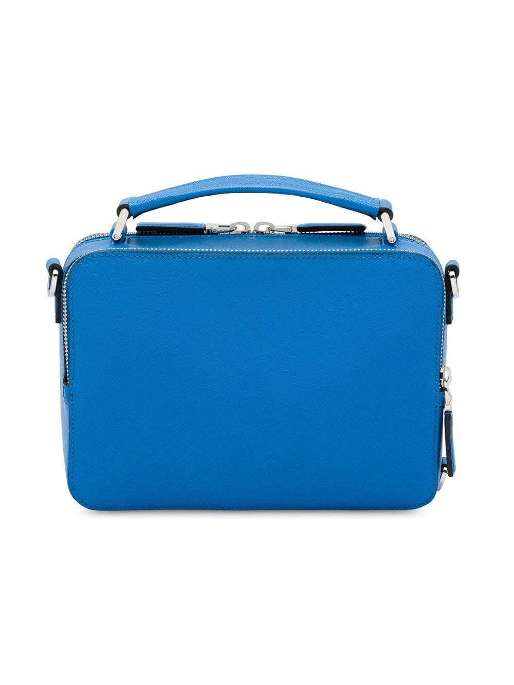 2b205eb4d75e Lyst - Prada Saffiano Leather Shoulder Bag in Blue for Men