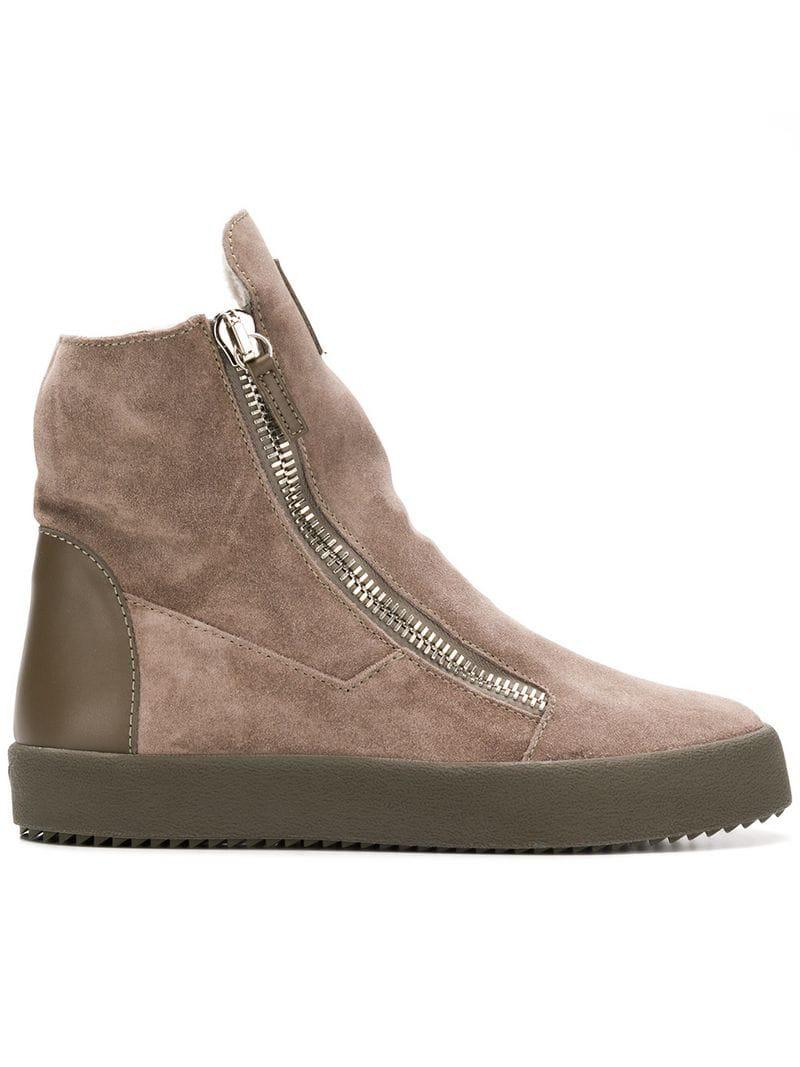 343bb1b175677 Giuseppe Zanotti Effie High-top Sneakers in Brown - Lyst