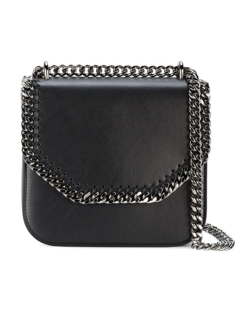 29f95386085c Lyst - Stella McCartney Black Falabella Shoulder Bag in Black - Save 13%