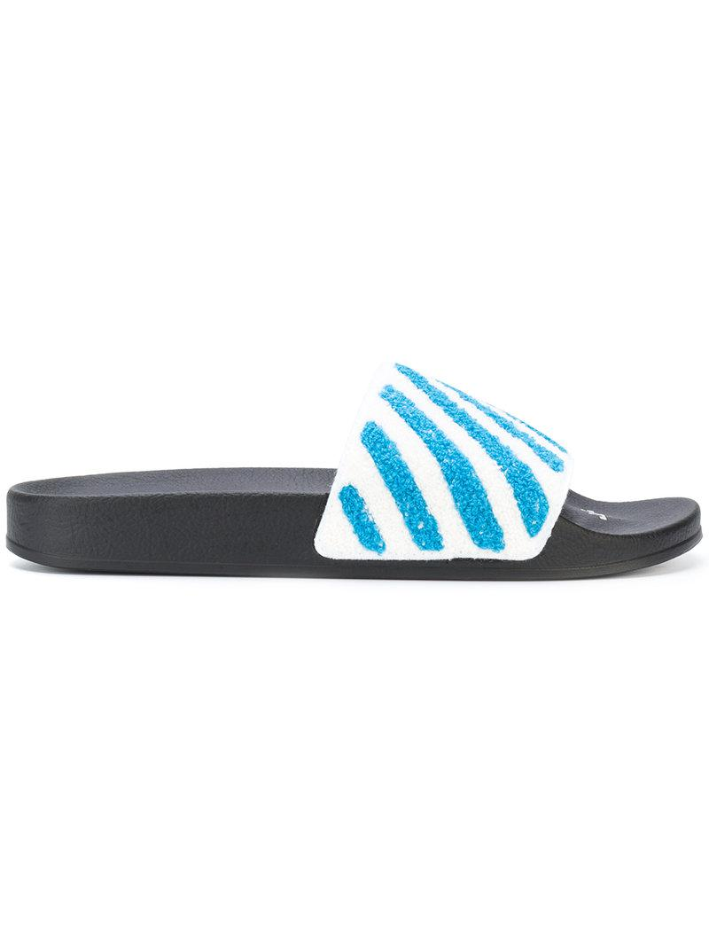 cheap sale newest Manchester sale online Off-White striped terry slides sale big discount VWMZ5WwH93