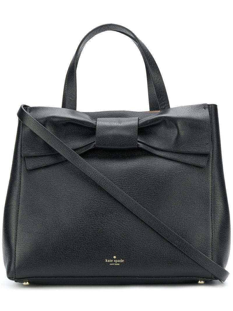 ee52d6358e29 Kate Spade Black Tote With White Bow | Stanford Center for ...