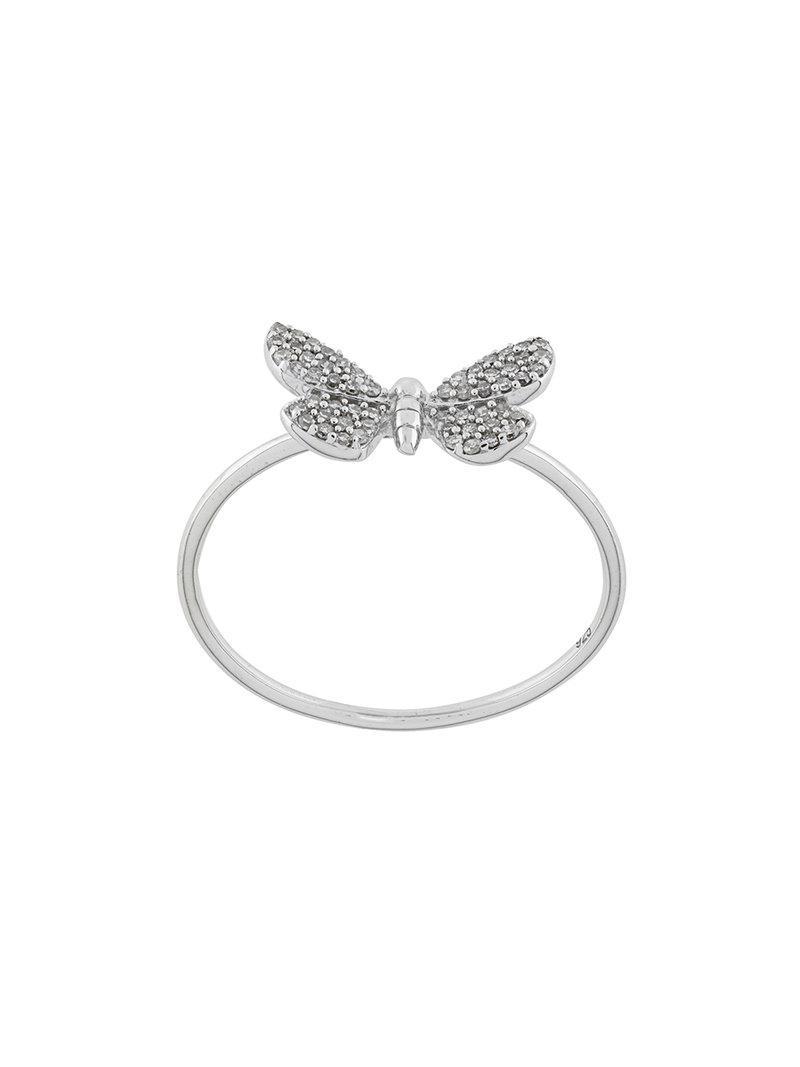 Astley Clarke Medie Cinnabar Moth ring - Metallic uPFTaRzIB