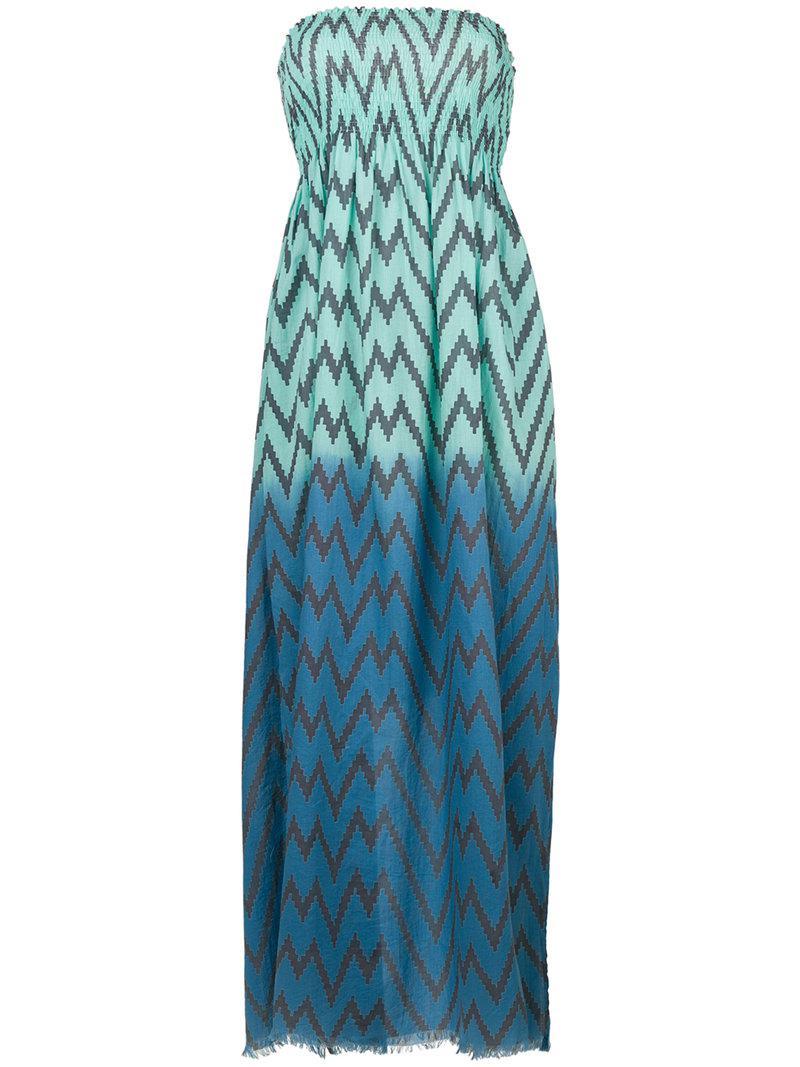 Capo zig-zag maxi beach dress - Blue Tara Matthews eevqYcKM2O