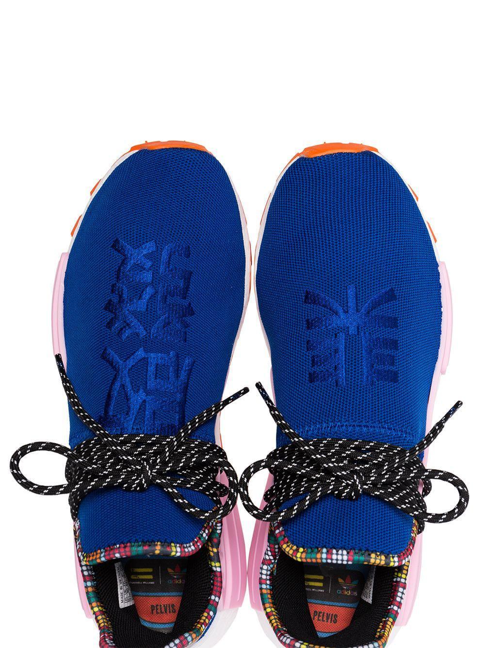 74da0a73c105a Lyst - adidas X Pharrell Williams Blue Human Body Nmd Sneakers in ...