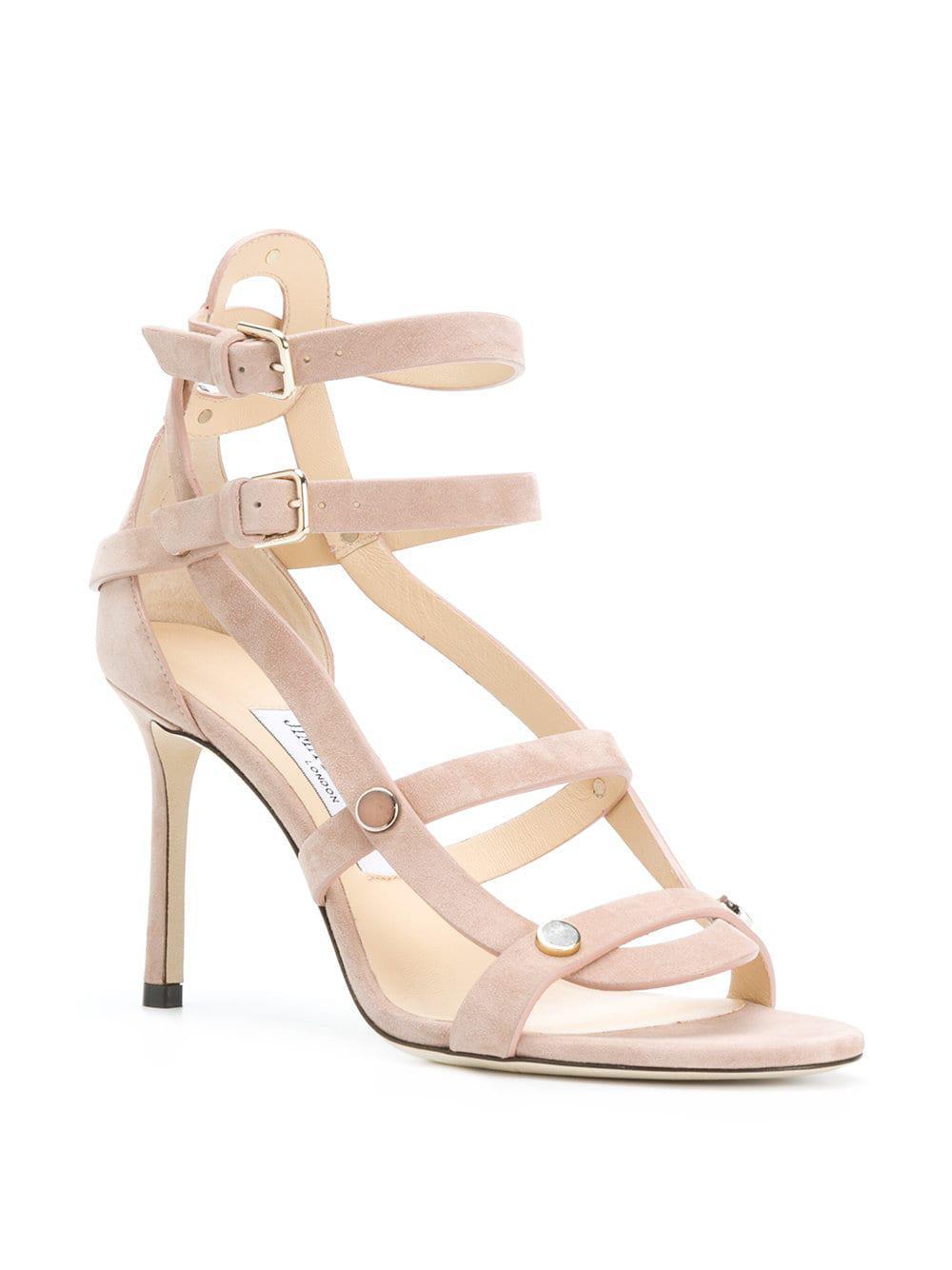 7983c63487e Jimmy Choo - Pink Motoko 85 Sandals - Lyst. View fullscreen