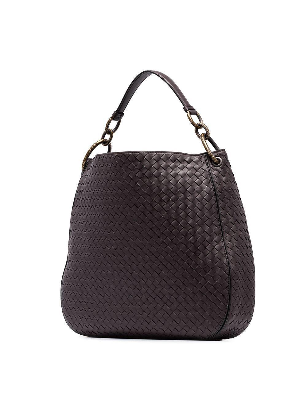 e32d2204d061 Bottega Veneta - Gray Graphite Loop Medium Leather Shoulder Bag - Lyst.  View fullscreen