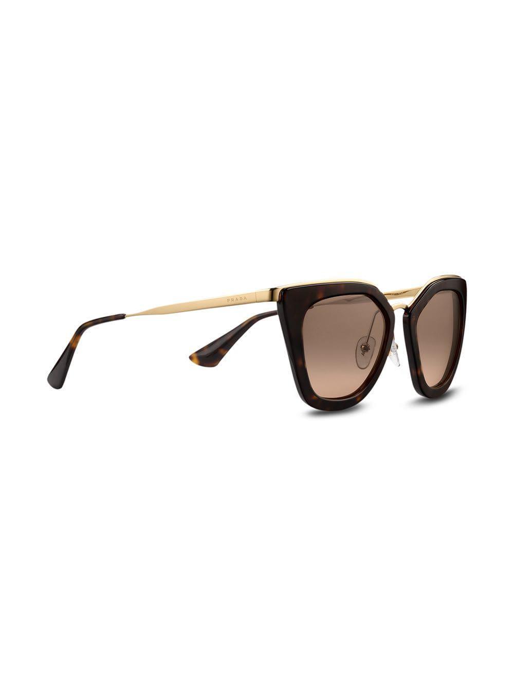 6f383f8f2156f Lyst - Prada Prada Cinéma Eyewear in Brown