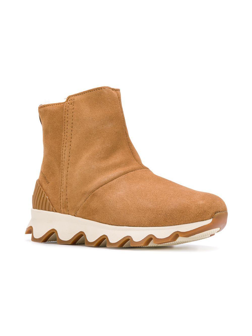 769d01afd89b Sorel - Brown Kinetic Short Boots - Lyst. View fullscreen