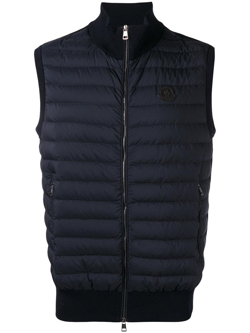 2dae5cbe6ada Moncler Quilted Body-warmer Jacket in Blue for Men - Lyst