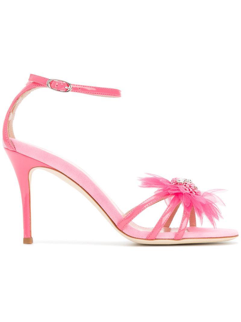 Giuseppe Zanotti Design feather applique sandals - Pink & Purple farfetch rosa Pago Holgura Con Visa El Pago De Visa Envío Libre Para La Venta Libre Del Envío 100% Auténtico Precio Barato Alta Calidad SbZttDgP