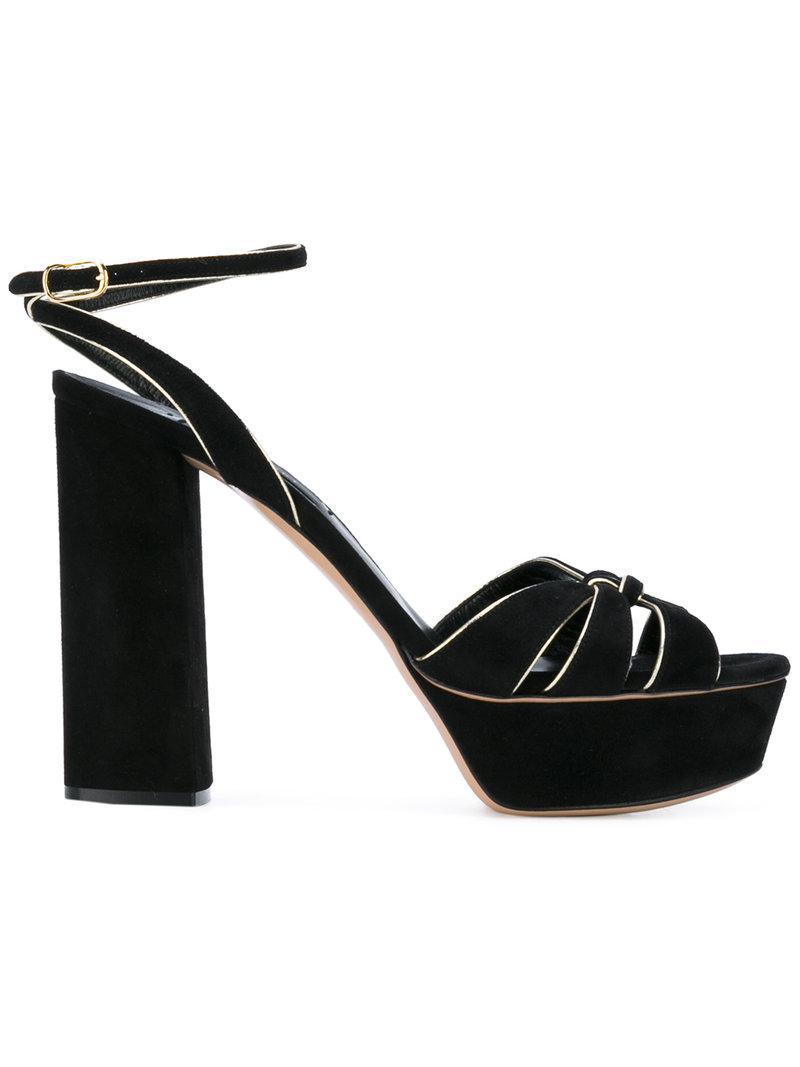 gold trim sandals - Black Casadei znyyPs