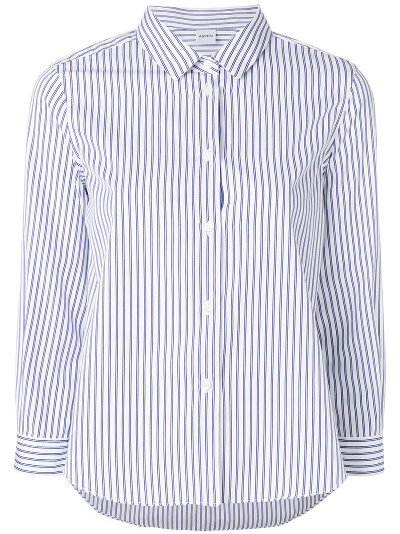 striped shirt - White Aspesi Countdown Package Sale Online Best Deals Low Shipping Cheap Online R9fyh