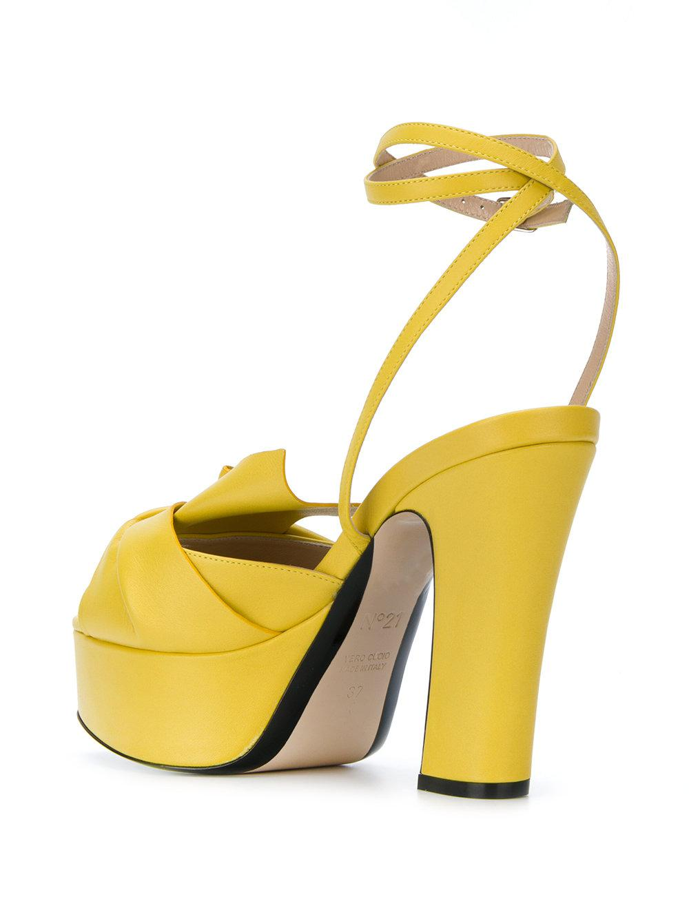 abstract bow platform sandals - Yellow & Orange N Ut3fpE8V