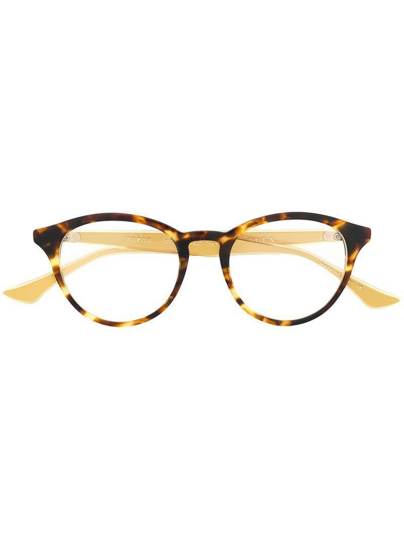 57969316490 Dita Eyewear Topos Glasses in Brown - Lyst