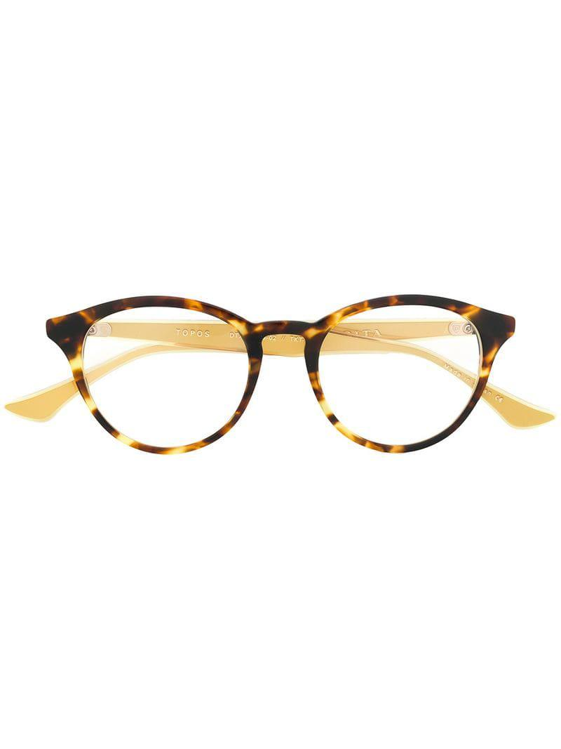 e4c255d75db Dita Eyewear Topos Glasses in Brown - Lyst