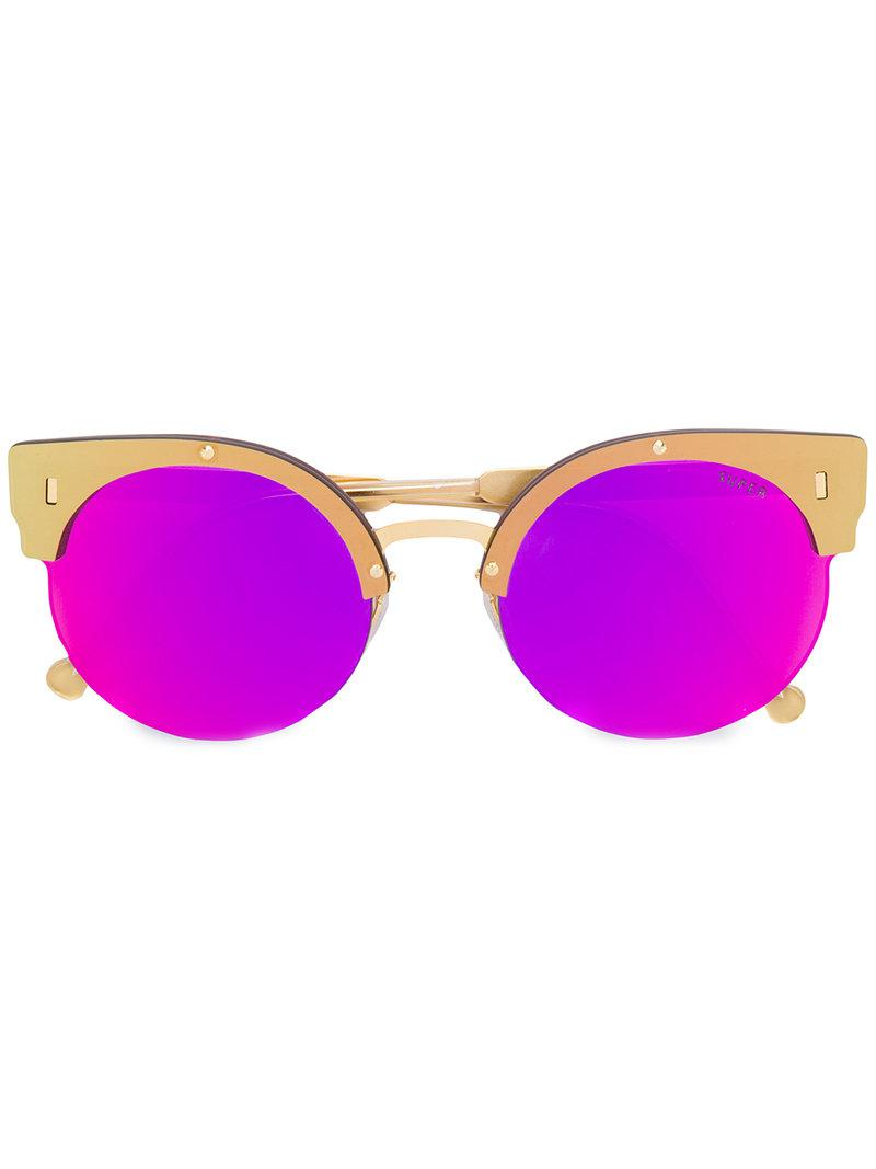 Era cateye sunglasses - Metallic Retro Superfuture FLfY0O