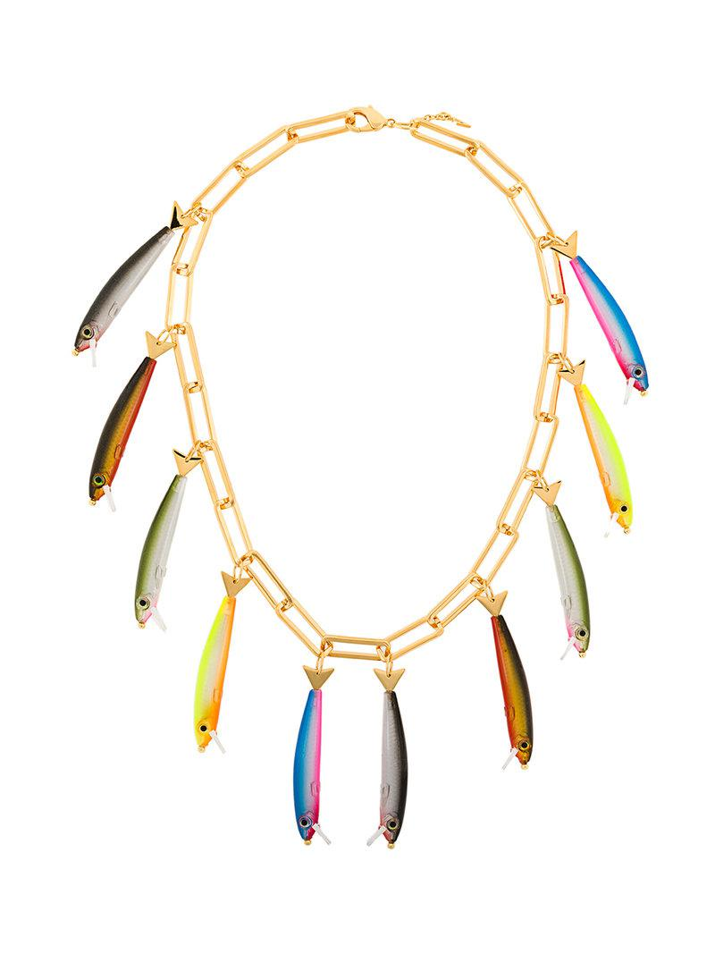 Catalina D'Anglade fish charm necklace - Metallic gv6Sp