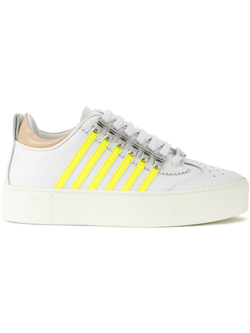 platform runners with stripe detail - White Dsquared2 Sale Excellent Classic High Quality Extremely Online CqdVn