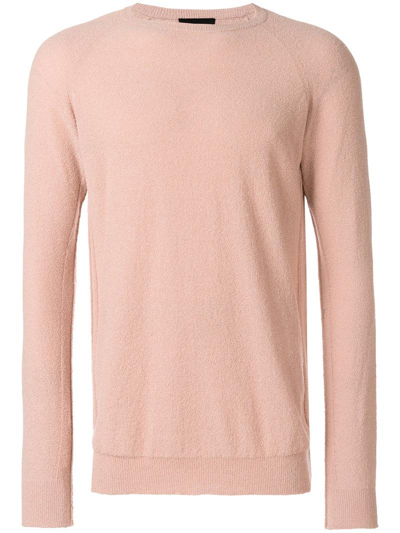 In Crewneck Sweater Pink Men Lyst Roberto Collina For xFqaU4I 575fc64d0a1