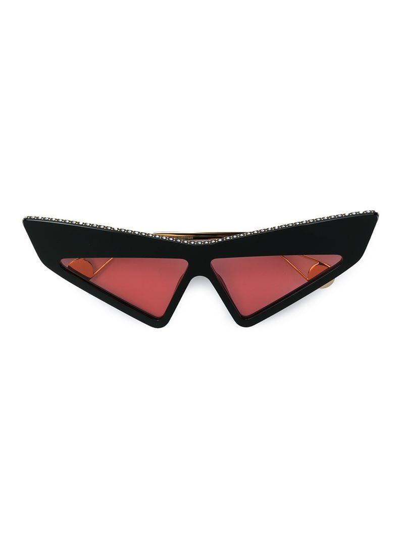 d0d8a663db921a Lyst - Lunettes de soleil à détails de strass Gucci pour homme en ...
