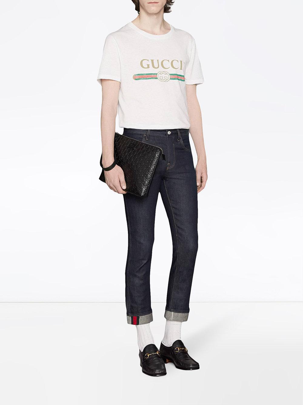 bc51550e3a5 Gucci Signature Soft Men s Bag in Black for Men - Lyst