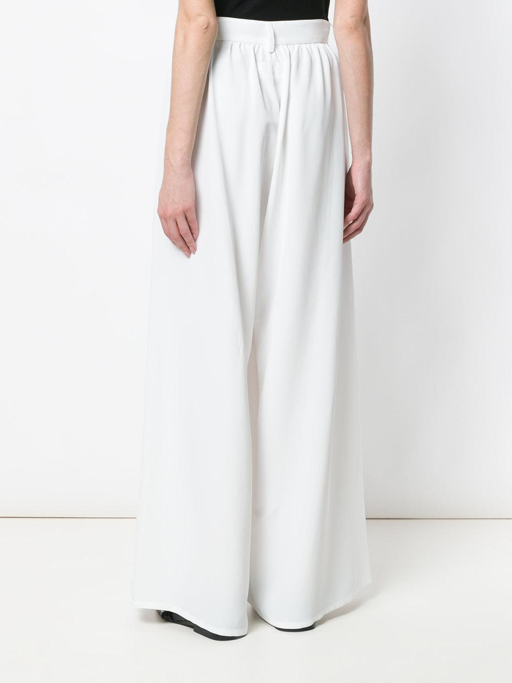 high-waisted palazzo trousers - White Maison Martin Margiela Discount Best Store To Get Popular Sale Online D0JVgLg