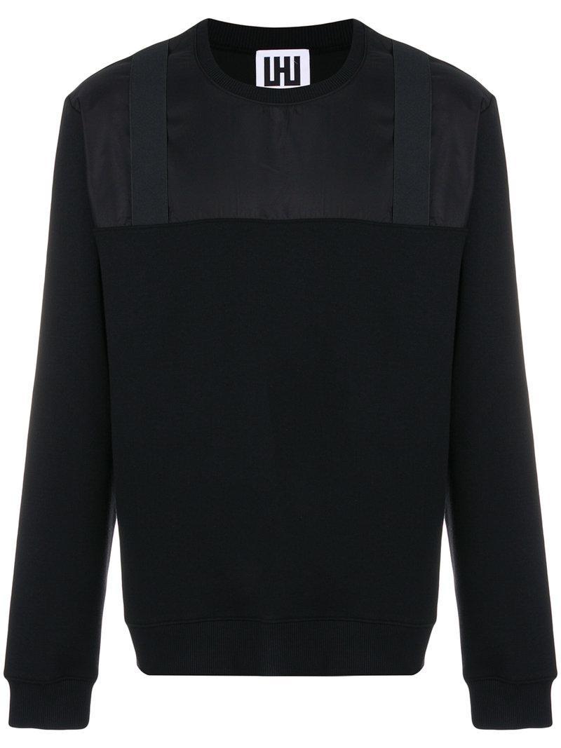 Men's Les Panel Hommes Black Contrast Sweatshirt 5q7Zwq8