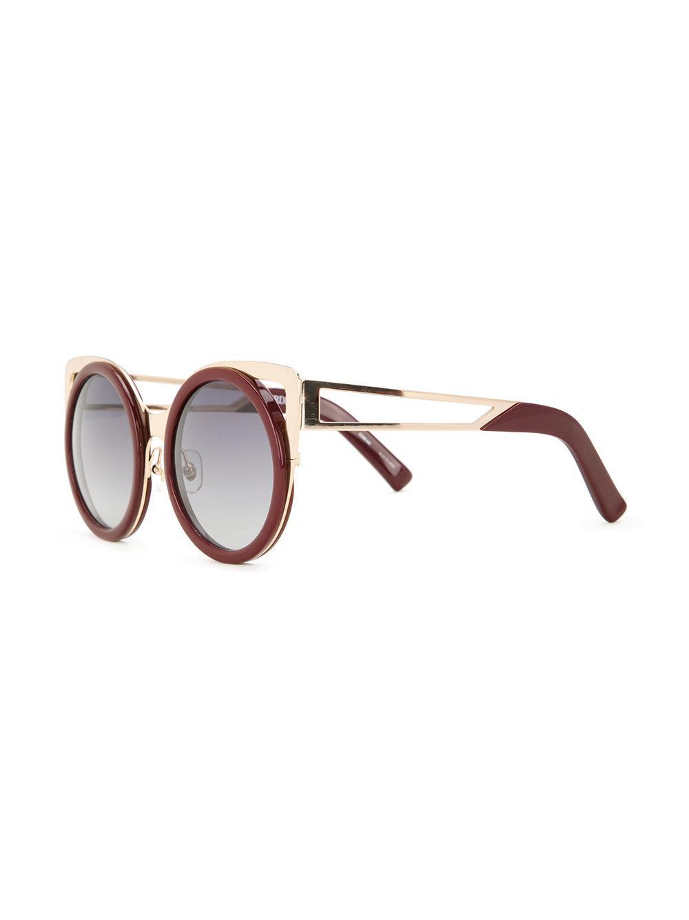 7e90dd14a72 Linda Farrow - Red Erdem 4 Sunglasses - Lyst. View fullscreen