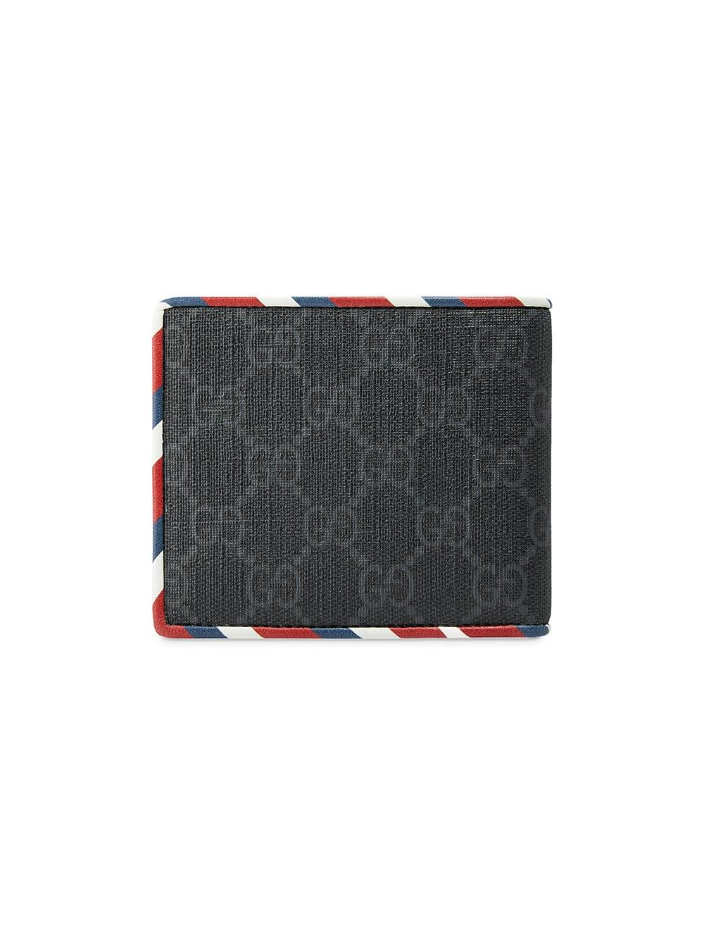 cb32643112ef Lyst - Gucci Night Courrier GG Supreme Wallet in Black for Men - Save 15%