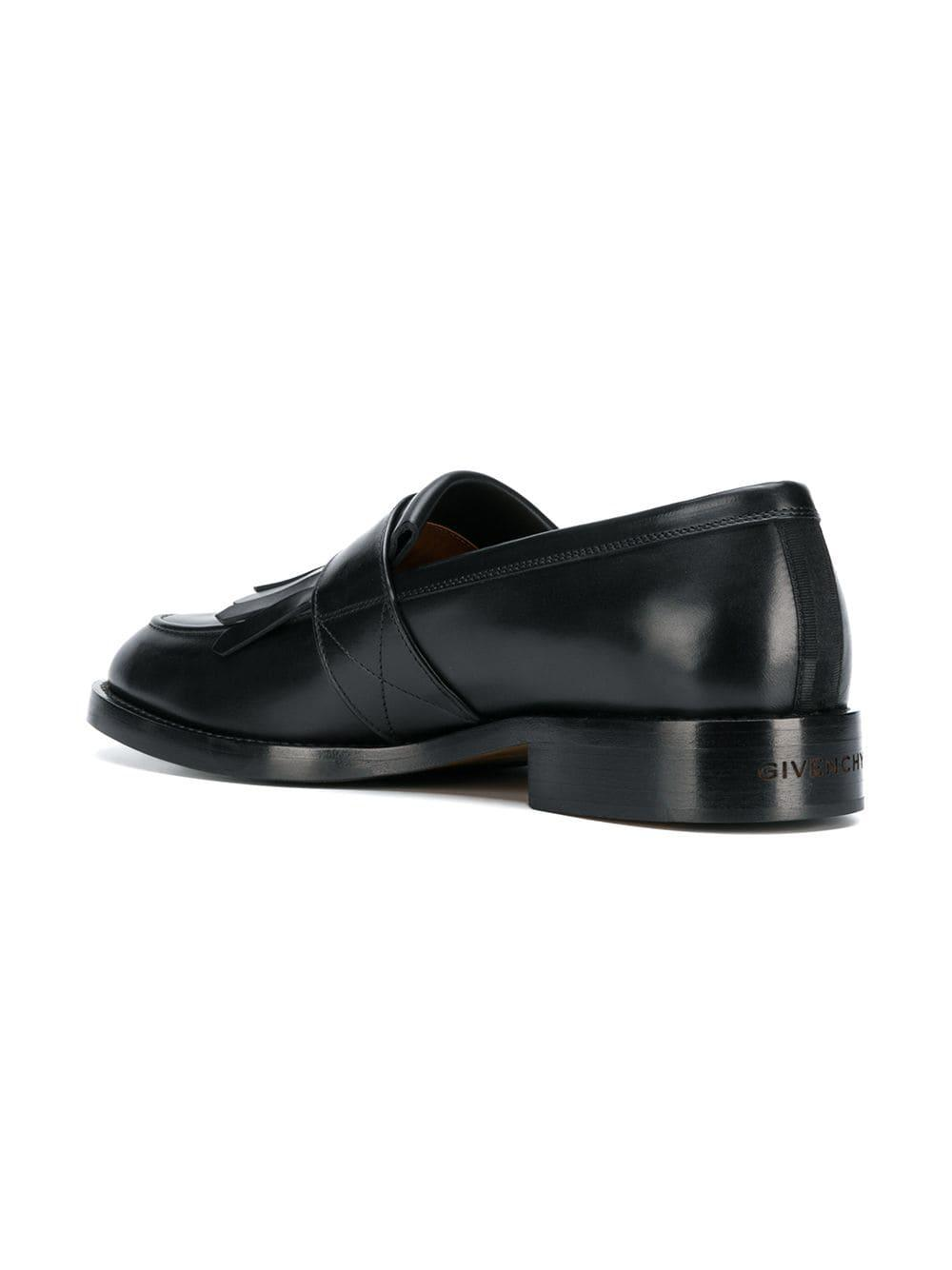 d5caad92788 Givenchy - Black Fringe Detail Loafers for Men - Lyst. View fullscreen