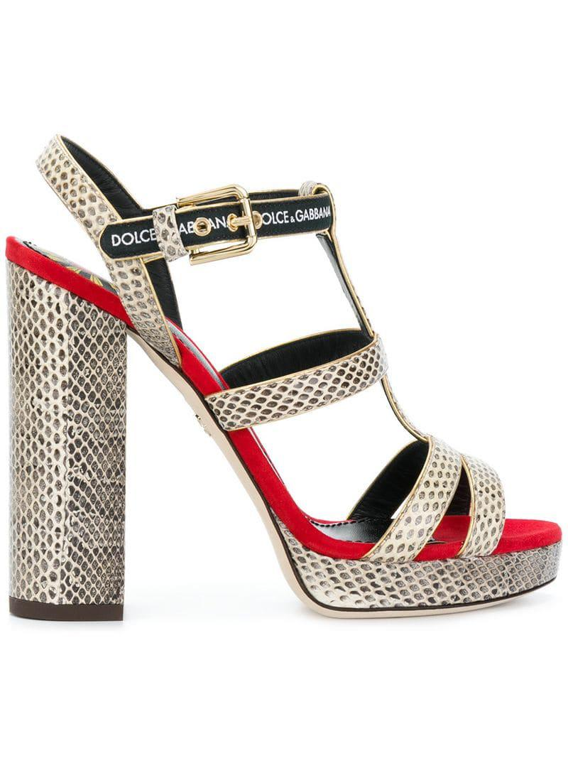 01bd3d2f05a6 Lyst - Dolce   Gabbana Keira Sandals in Red