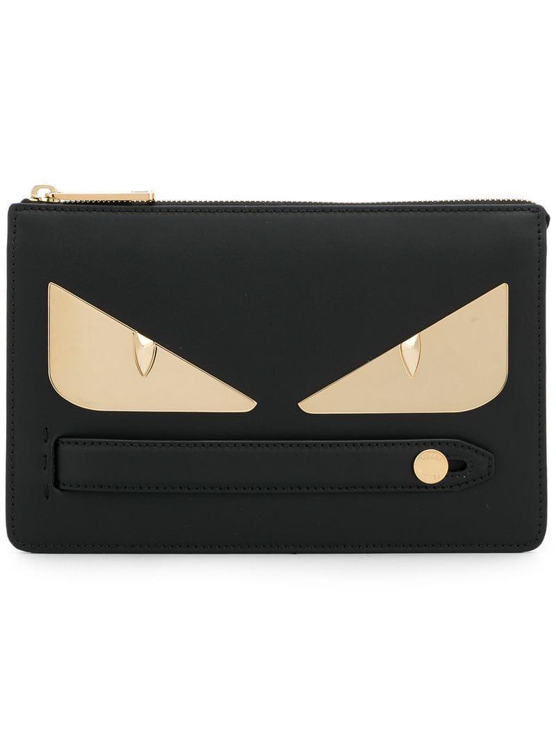 Lyst - Pochette à appliqués Bag Bugs Fendi pour homme en coloris Noir d653d0ccbe0