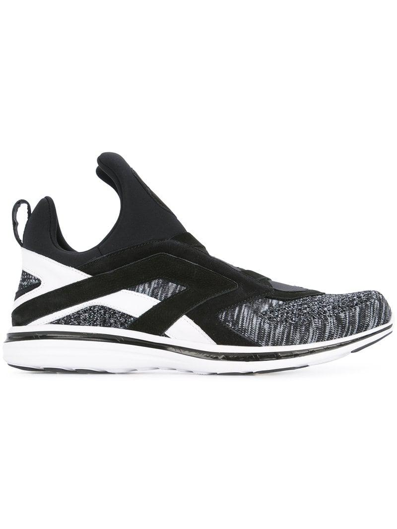 Lace Up Lyst Labs Propulsion Athletic In Panelled Sneakers Black w11aqIZx