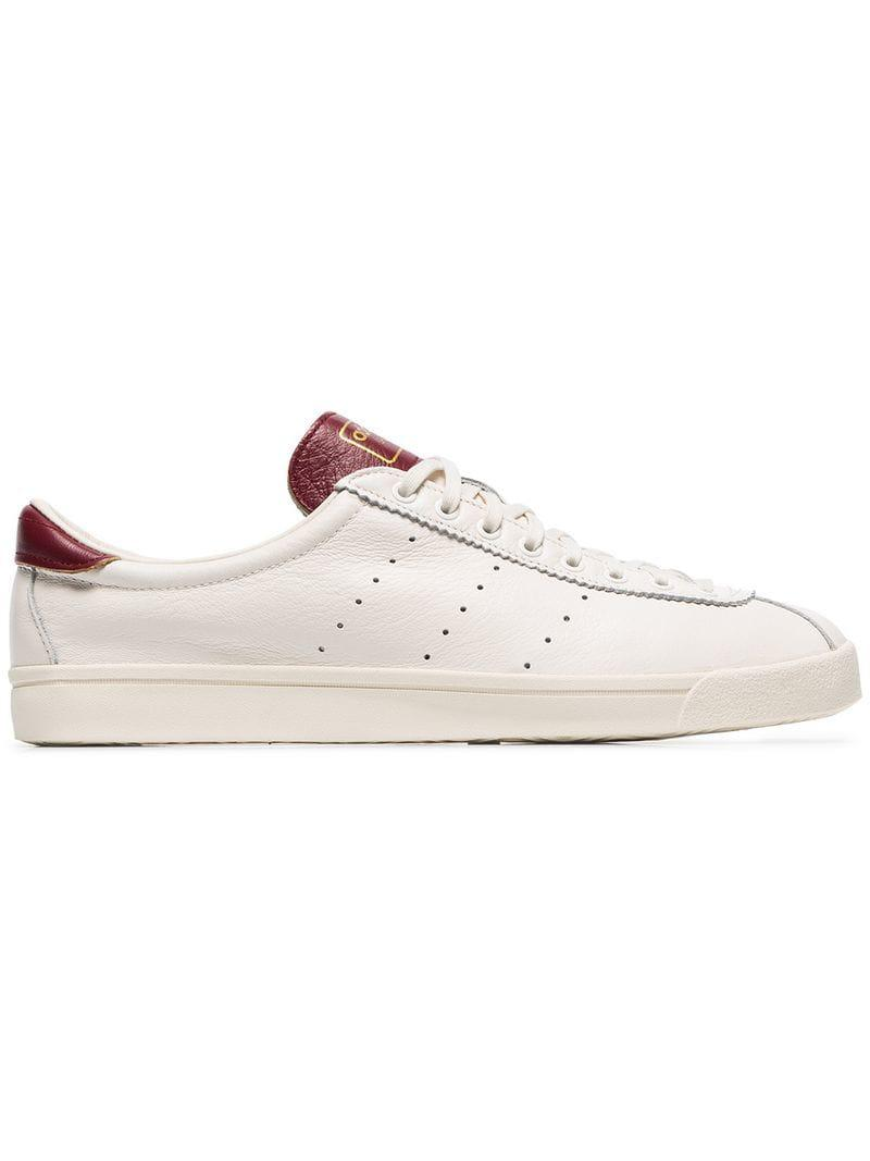 Lyst - adidas White And Burgundy Lacombe Sneakers in White for Men 717a808a3