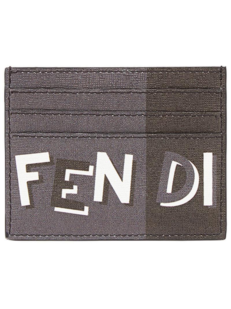 Fendi Porte-cartes bicolore à logo 2fhFp8X