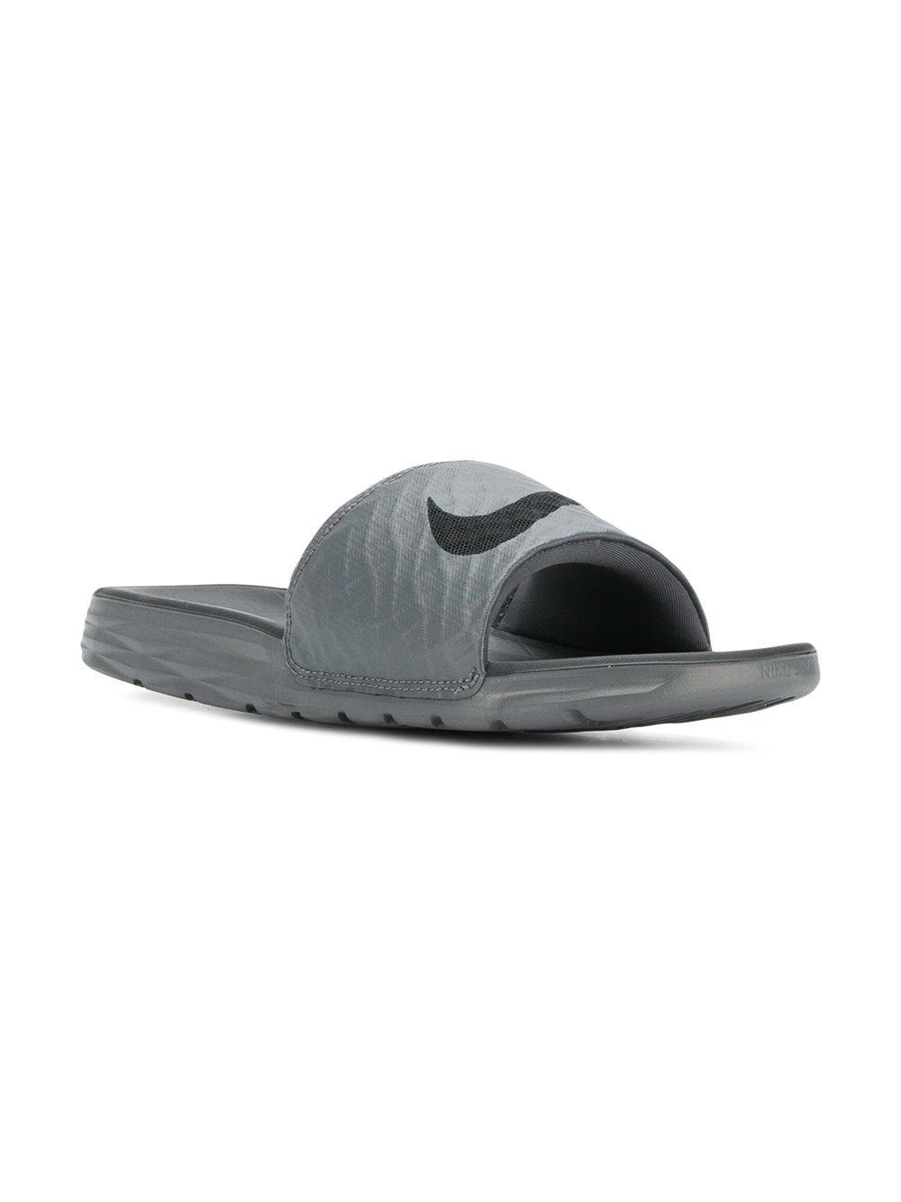 627ef335a Lyst - Nike Benassi Slides in Gray for Men