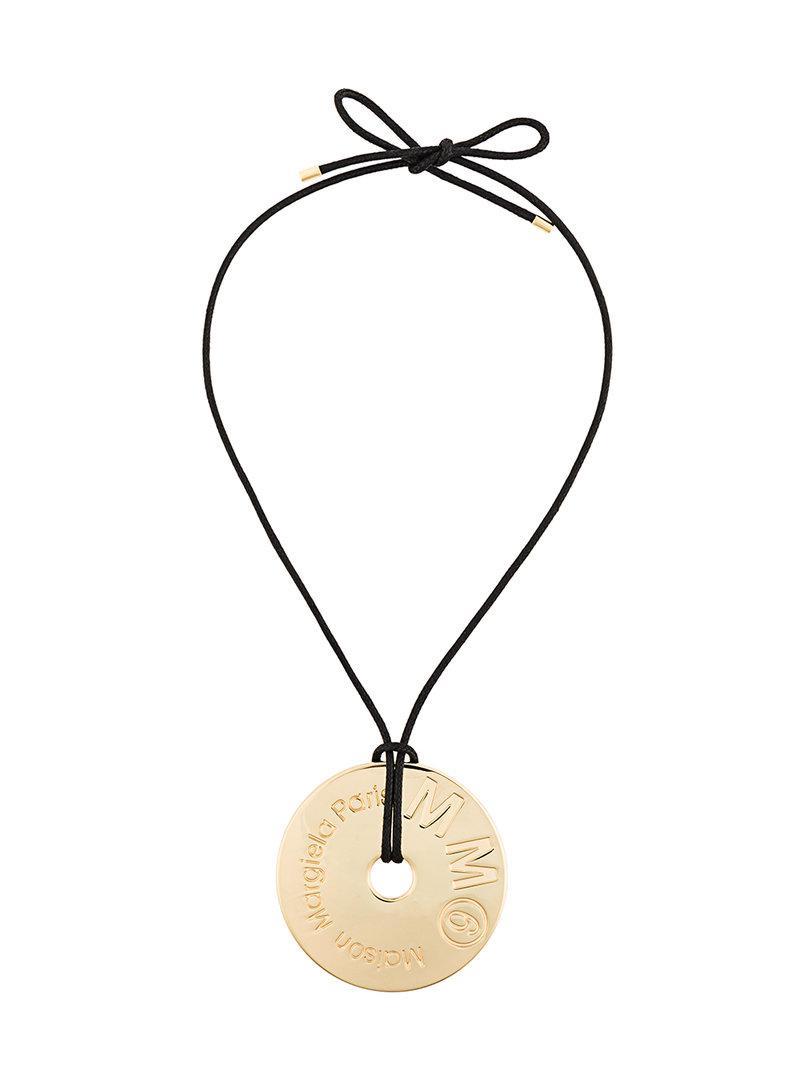 Maison Martin Margiela crystal drop necklace - Metallic uW7sMqfRDT