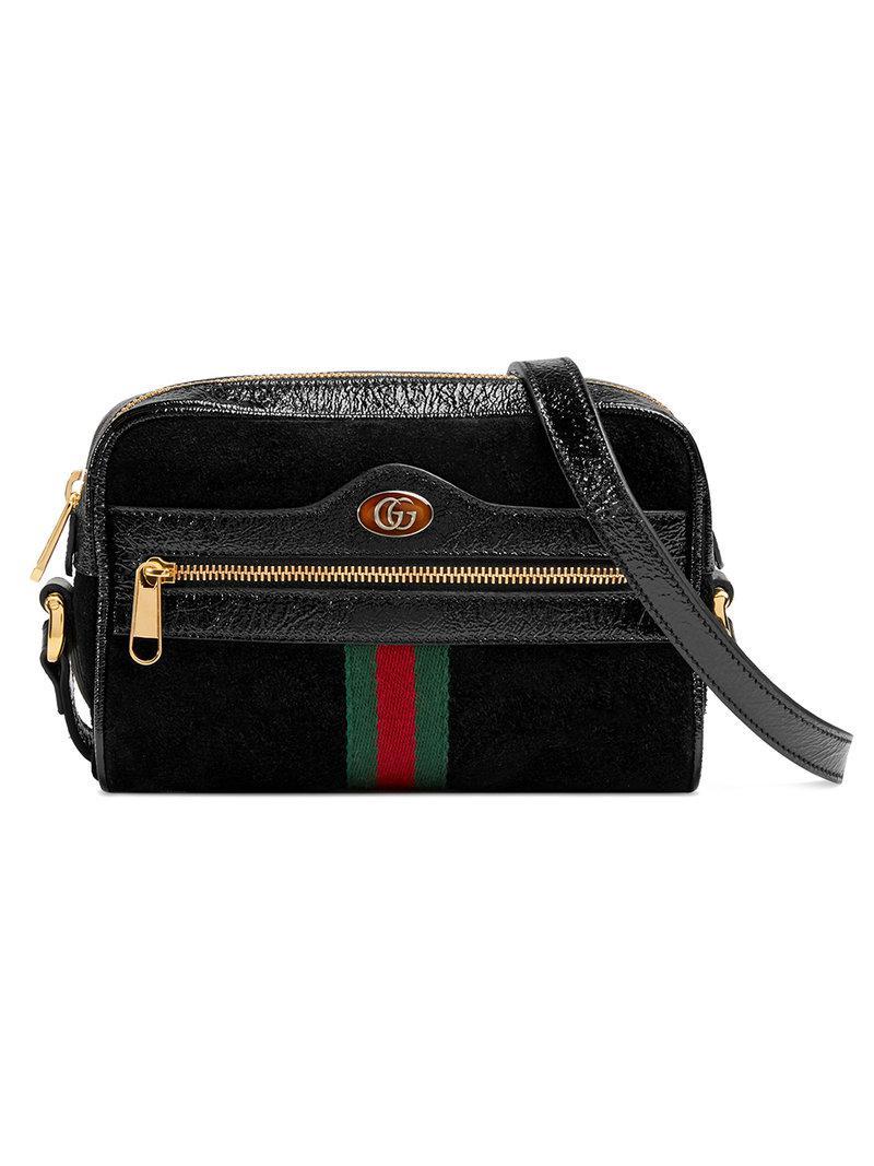 5ed1cde8451 Gucci Ophidia Mini Bag in Black - Lyst