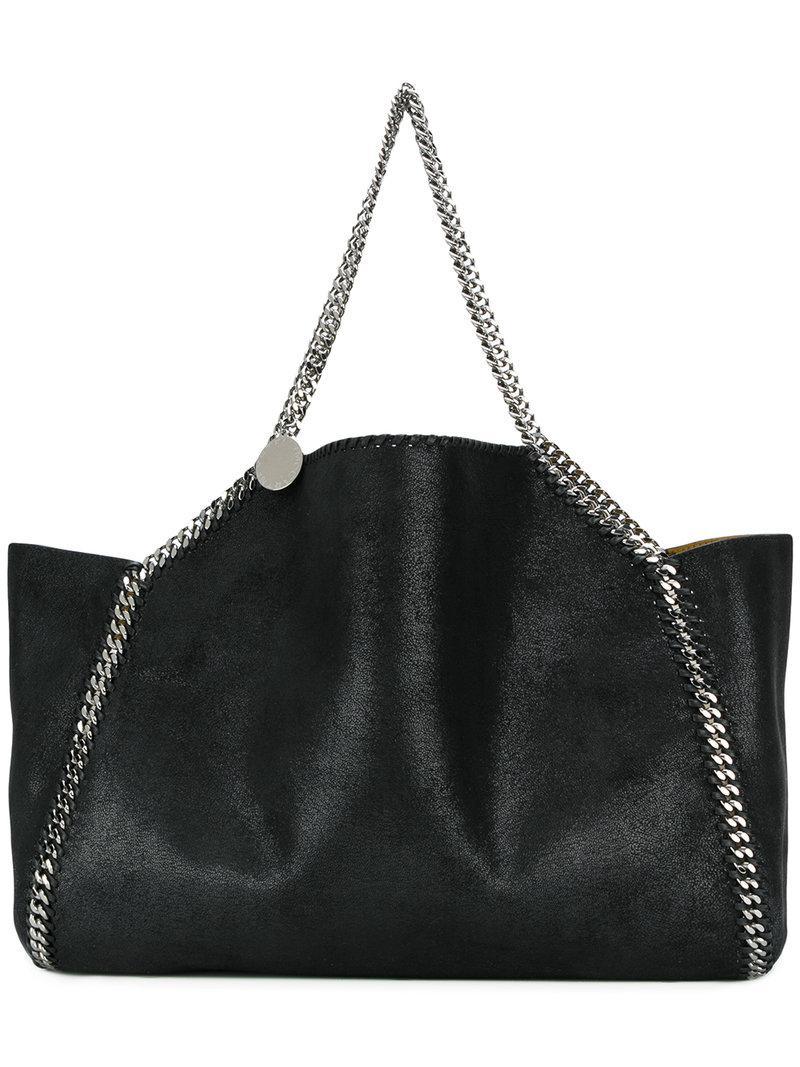 75b3c856b5658 Lyst - Stella McCartney Falabella Reversible Tote Bag in Black ...