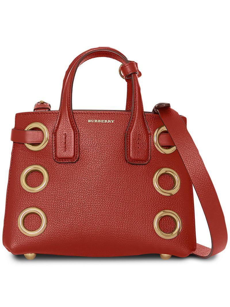 b071820bfd54 Lyst - Sac à main The Baby Banner Burberry en coloris Rouge