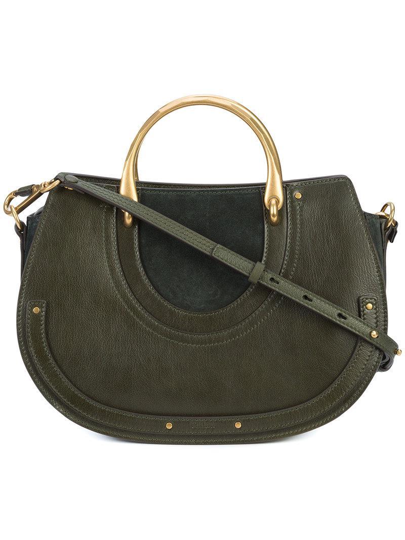 Lyst Chlo 233 Medium Pixie Bag In Green