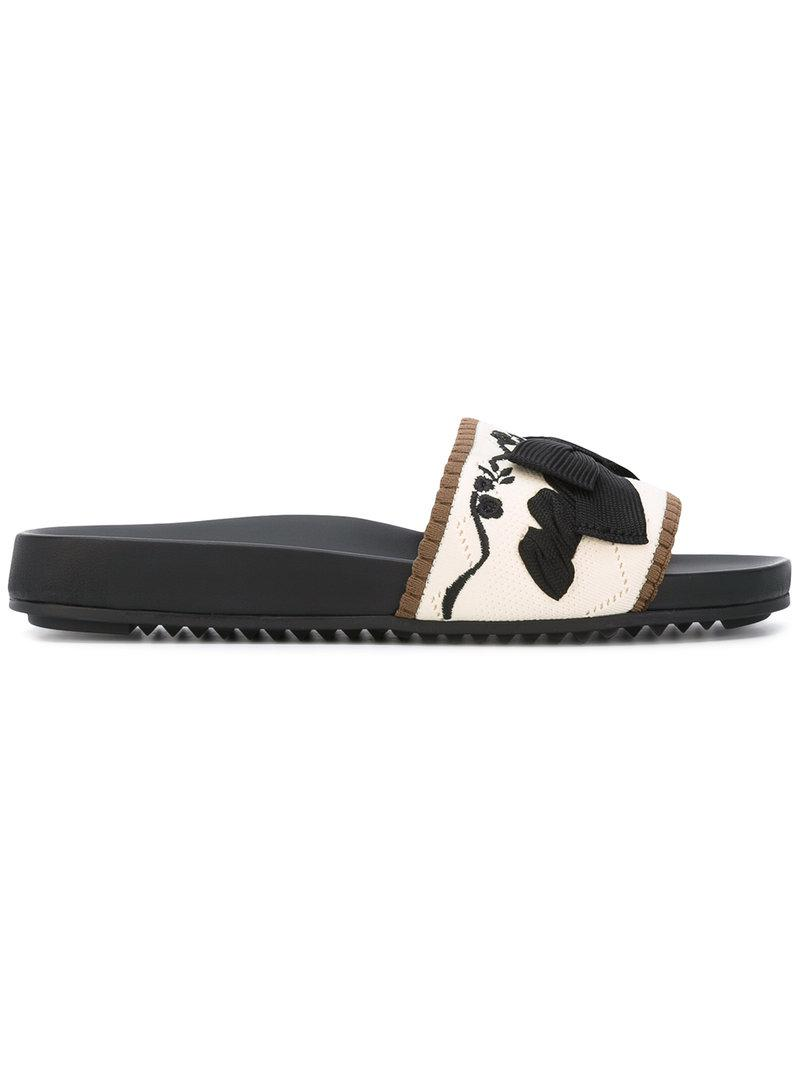 Fendi Slides with embroideries 7vYV8H
