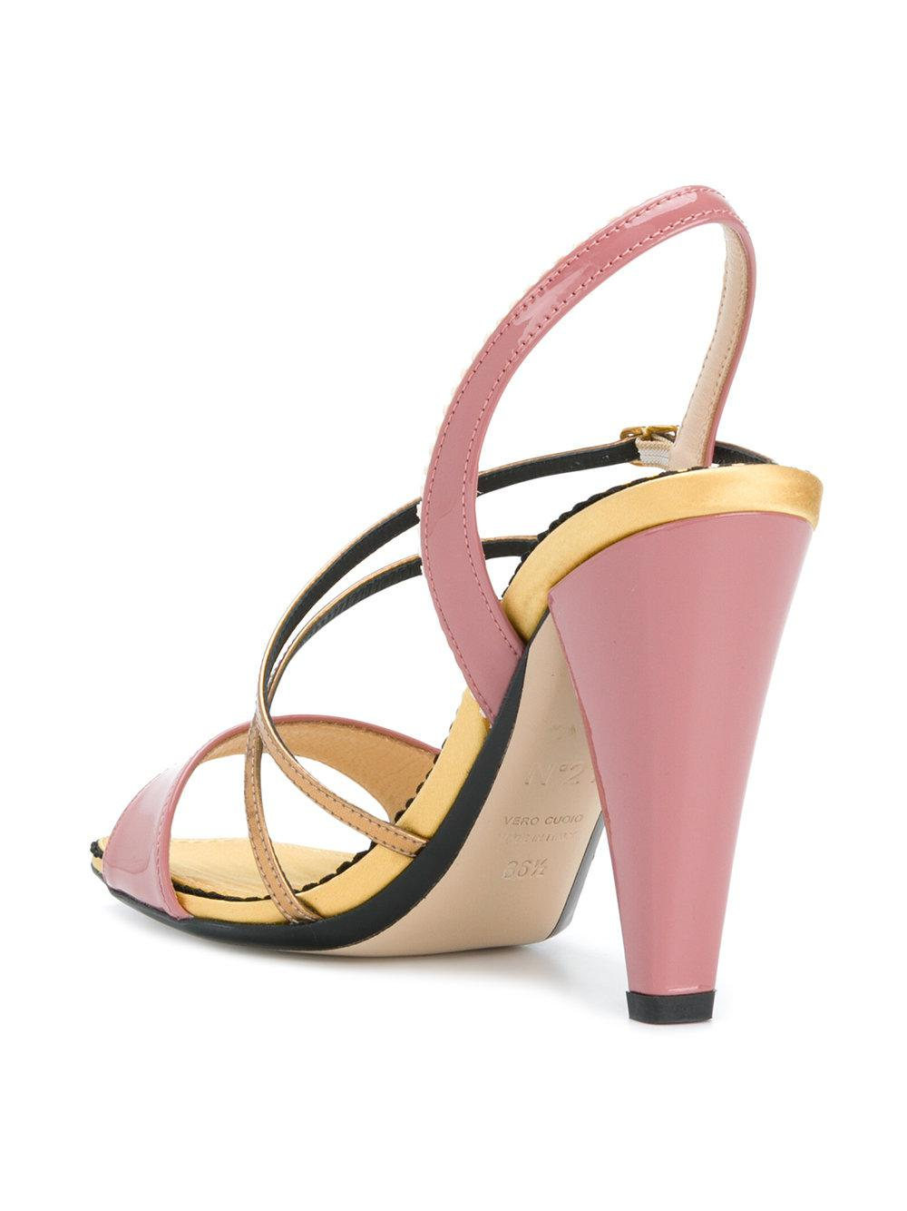 strappy open toe sandals - Pink & Purple N gq59taf
