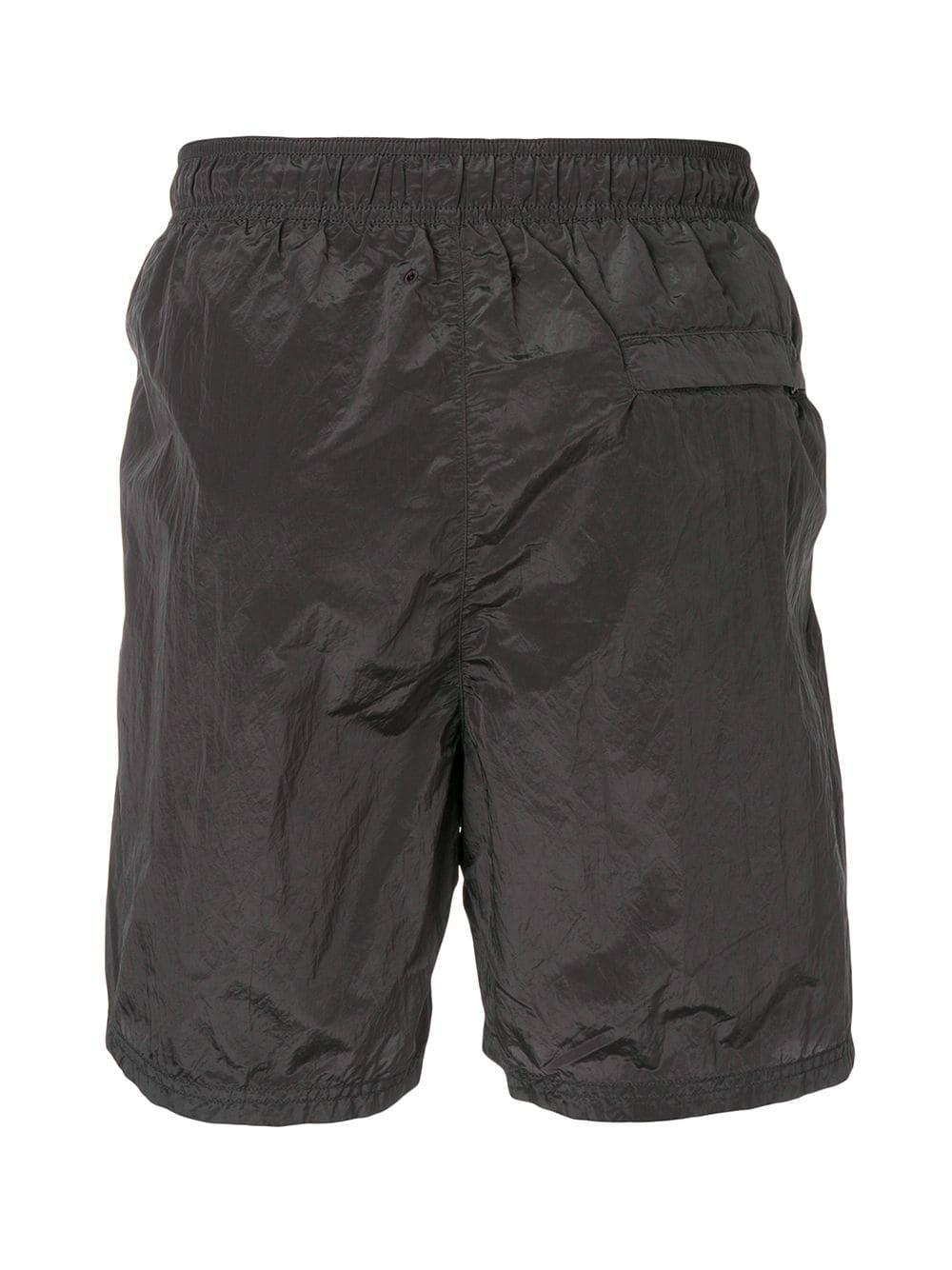 cd88eec106 Stone Island - Gray Shell Swim Shorts for Men - Lyst. View fullscreen