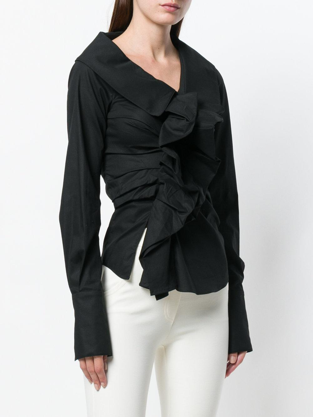Cheap Price In China Low Shipping Fee Cheap Price ruched blouse - Black Plein Sud 4Uy9e