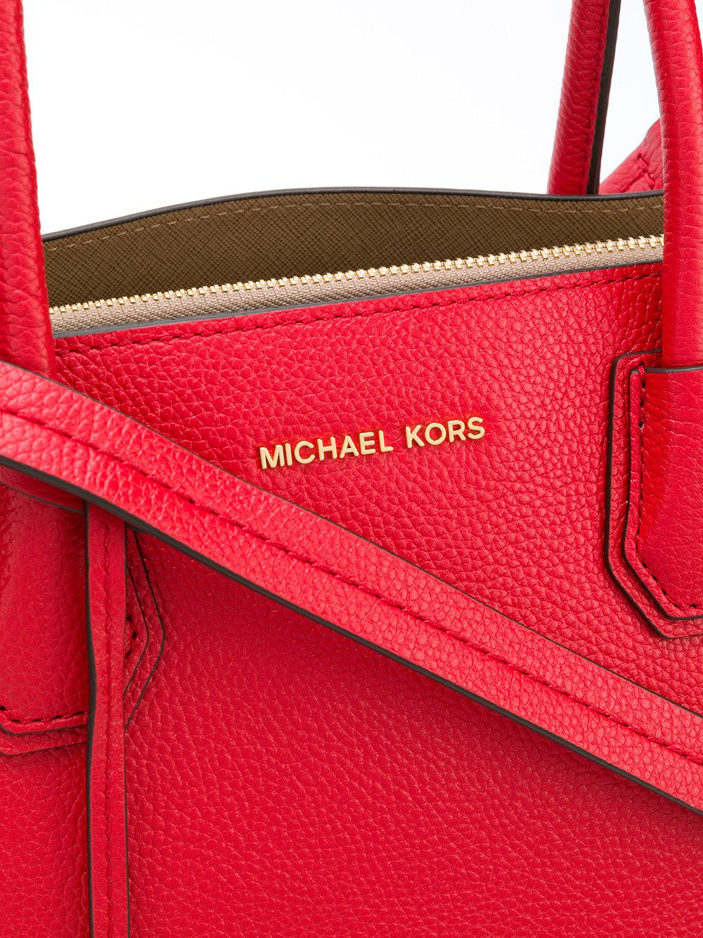 83abd4196ef0 MICHAEL Michael Kors Mercer Extra-large Tote in Red - Lyst